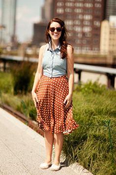 Forever 21 halter top, Forever 21 skirt, Aldo bag.  #highline #nyc