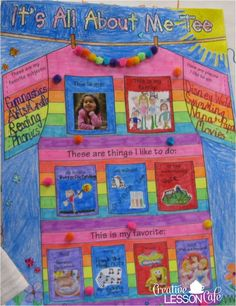 Creative Lesson Cafe: Star Student~ All About Me Posters! All About Me Project, All About Me Crafts, All About Me Art, All About Me Preschool, All About Me Activities, Kindergarten Posters, Kindergarten Projects, School Posters, Preschool Displays