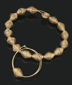 Necklace & Bracelet | Alexander Calder. Brass wire. ca. 1934. || Sold for 341,000$ (Nov '13)