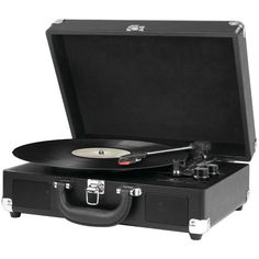 INNOVATIVE ITVS-550BT BK Bluetooth(R) Suitcase Turntables (Black)