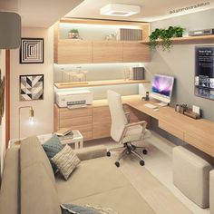 Super inspiration for your home office. Like it ? Home Office Ideas Home Inspiration Office Super Home Office Layouts, Home Office Setup, Home Office Space, Home Office Furniture, Office Workspace, Office Ideas, Modern Home Offices, Small Home Offices, Small Office