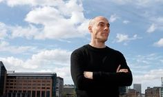 Joshua Oppenheimer, photographed at home in Copenhagen.