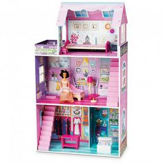 Jupiter® Traditional Dollhouse With Furniture