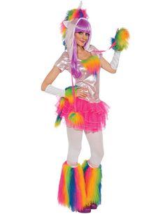 Einhorn Damenkostüm rosa-bunt - Artikelnummer: 637240000 - ab 59.99EURO - bei Karneval-Megastore.de!