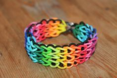 Rainbow loom, Nederlands, triple single armband zonder extra verlenging