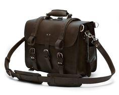 #Handmade Full Grain #Leather Briefcase #Selvaggio