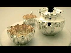 Video ... Sterling Silver Bachelor Three Piece Tea Service - Boxed - Antique - AC Silver (W6327). More info here http://www.acsilver.co.uk/shop/pc/Sterling-Silver-Bachelor-Three-Piece-Tea-Service-Boxed-Antique-67p4887.htm