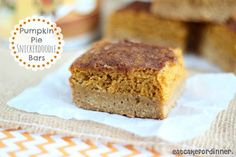Eat Cake For Dinner: Pumpkin Pie Snickerdoodle Bars