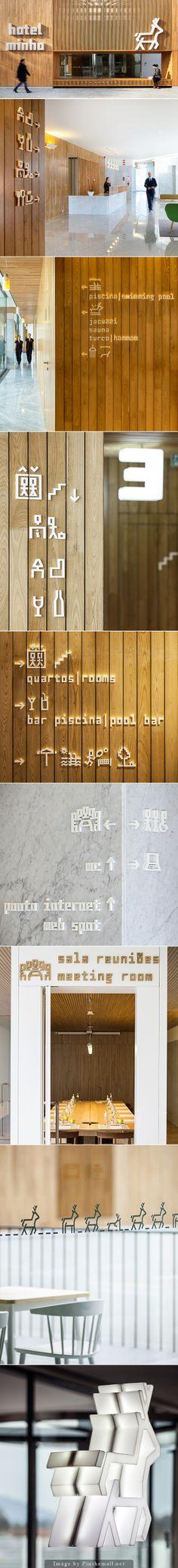 Hotel Minho, Environmental Graphic Design, Signage Sistems, Interior wayfinding, señaletica para empresas, diseño de locales comerciales Canton Crossing   #Wayfinding   #Signage