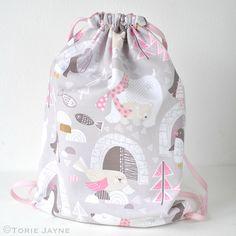 Toddler Girls Drawstring Backpack Sewing Tutorial 20