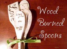 Wood Burned Spoons, cute wedding gifts
