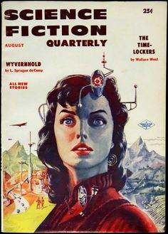 Science Fiction Quarterly Vol. 4, No. 4 (August, 1956). Cover Art by Ed Emsh | Flickr - Photo Sharing!
