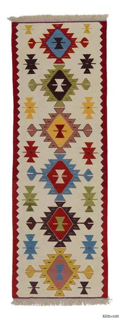 Beige, Multicolor New Turkish Kilim Runner - carpetideas Patterned Carpet, Textured Carpet, Wool Carpet, Rugs On Carpet, Red Carpets, Carpet Tiles, Tapetes Vintage, Kilim Runner, Kilims