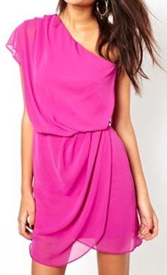 mini dress with drape one shoulder  http://rstyle.me/n/fbqsxpdpe