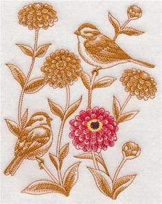 Machine Embroidery Designs at Embroidery Library! - Zinnias
