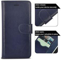 Selectec IPhone 6 Case IPhone 6S Genuine Wallet Leather Smart Case