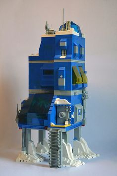 Ice Planet Research Complex 01 Lego Moc, Lego Duplo, Lego Space Station, Lego Words, Lego City Police, Lego Spaceship, Lego Craft, Lego Modular, Lego Construction