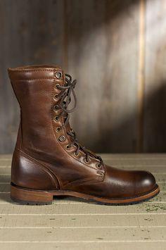 Men's Walk-Over Ian Fold-Over Leather Jump Boots | Overland Sheepskin