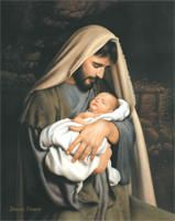Joseph and the newborn King, but at that moment Jesus was simply his son.