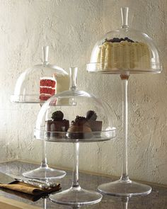 mini glass cake stands | perfect for a dessert table