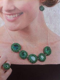 10 Lovely Examples of Crochet Jewelry, a Pinterest Selection---Tapestry crochet bracelet, free tutorial