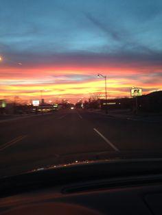 Prague, Oklahoma sunset:)