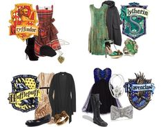 Harry Potter houses of Hogwarts outfits