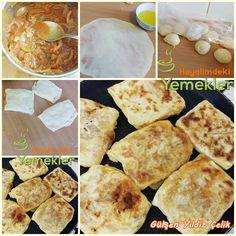 Msemen Farci  ( Soğanlı Gözleme ) Moroccan Bread, Deli, Good Food, Food And Drink, Pizza, Ethnic Recipes, Pastries, Biscuits, Life