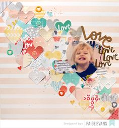 #papercraft #scrapbook #layout. Love Ya by PaigeEvans at @studio_calico