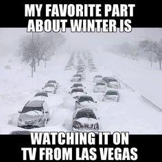 Winter from Las Vegas.