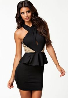 Cross Neck Peplum Dress with Accent Detail Cheap Club Dresses, Prom Dresses For Sale, Sexy Dresses, Nice Dresses, Fashion Dresses, Peplum Dresses, Beautiful Dresses, Fashion Shoes, Women's Fashion