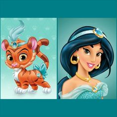 Jasmine with Sultan (pet) | Disney Palace Pets | Palace Pets ...