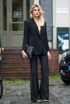 All black com blazer e pantalona