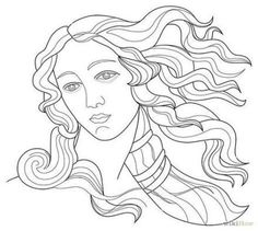 sandro botticelli coloring pages Paintings Famous, Famous Art, Venus Painting, Painting Art, Art Inspo, Drawing Sketches, Art Drawings, Pop Art, Ouvrages D'art