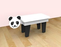 CocoMoco Kids Kuriouskid Panda study table It's a table, it's a pet It's playtime, it's activity time