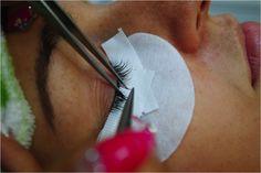 Individual eyelash extension application at www.divinelashes.ca Eyelash Extensions Salons, Individual Eyelash Extensions, Eyelashes, Lashes