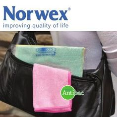 The Norwex Travel Pack is perfect for your purse or diaper bag.  Did you know - the toilet handle in most bathrooms at work has 400 times more germs than the toilet seat. AND did you know that most microbes do not cause disease - less than 5%!