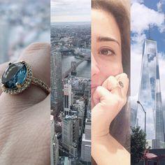 #seeforever #one #world #trade #center #emocionante #paulaferreira #nyc #ny  #semijoia#revenda#agoraeahora#dourado#gold#plate#good#girly#jour#bella#quero#style#mimo#novacolecao#news#need#anello #anel#ring #blue #diamonds