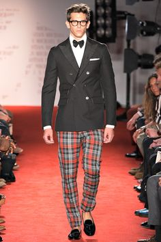 Michael Bastian Spring 2012.  I would.  Or I'd highly consider it.  #MenFashion