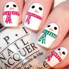 Cute Snowmen Nails
