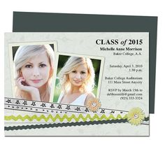 Academy Graduation Invitation Announcement Template