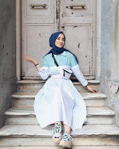 Fashion and Lifestyle Hijab Casual, Hijab Outfit, Hijab Dress, Dress Outfits, Dresses, Modern Hijab Fashion, Muslim Women Fashion, Modest Fashion, Fashion Outfits