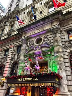 Christmas decorations at The Peninsula Hotel in New York City by @beesbudoir  - The Best Photos and Videos of New York City including the Statue of Liberty, Brooklyn Bridge, Central Park, Empire State Building, Chrysler Building and other popular New York places and attractions.