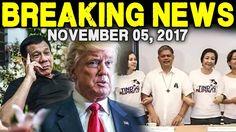 BREAKING NEWS TODAY NOVEMBER 05, 2017 - PRESIDENT DUTERTE l DONALD TRUMP...