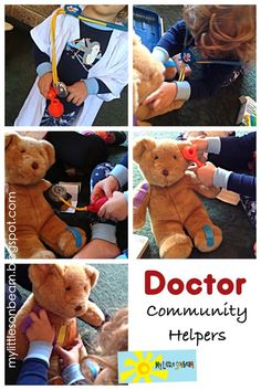 My Little Sonbeam: November Week 1 - community helpers transportation: Doctors (ambulance), DIY doctors coat, doctors kit. Role playing and pretend play. Mylittlesonbeam.blogspot.com {homeschool preschool learning activities}