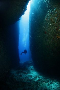 Exploring the underwater canyon in Kaş, Antalya, Turkey