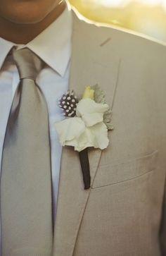 Simply refined in khaki. #weddings #grooms #khaki #suits