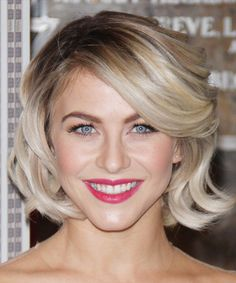 Julianne Hough Medium Wavy Formal Hairstyle - Light Blonde (Champagne) | TheHairStyler.com
