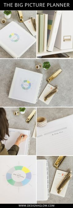 Let the Big Picture Planner from Design Aglow help you accomplish all of your photography business goals. #designaglow