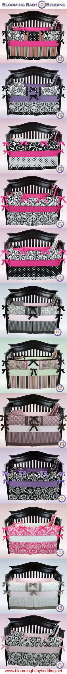 Baby Bedding - Crib Bedding - Baby Girl Bedding  Love all these think just pink and white bedding will go with her nursery design